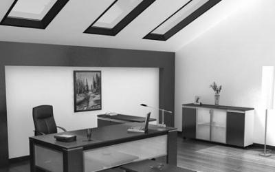 Таванско помещение в черно бяло