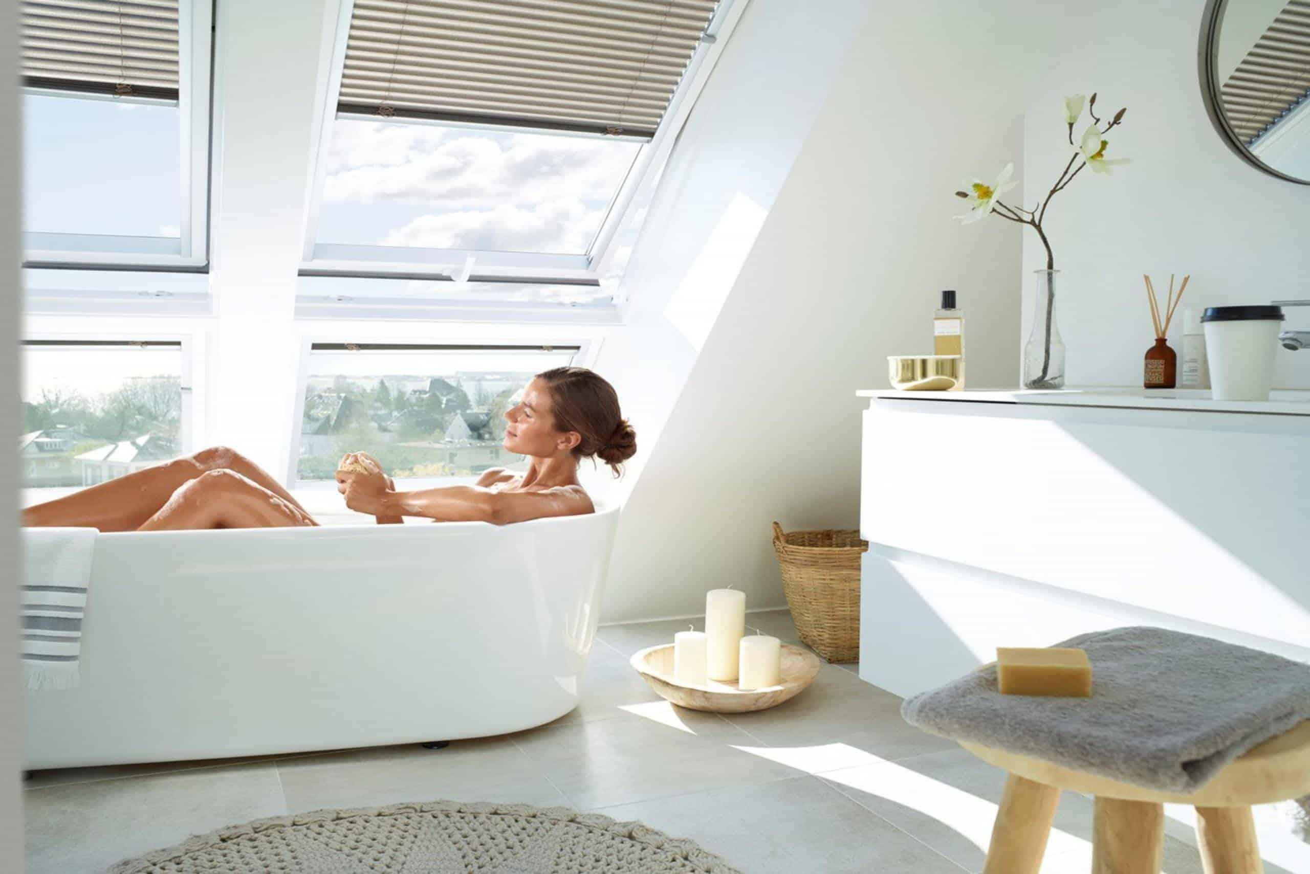 идеи за баня, мансарден етаж